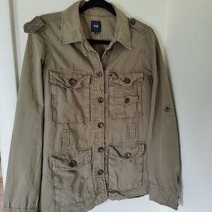 Gap Army Green Cargo Women's Jacket